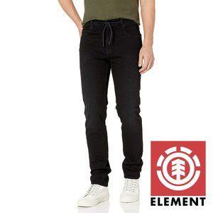 Element Men's E02 Slim Tapered Denim Black 31
